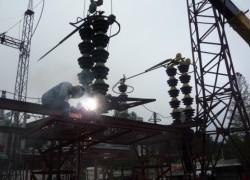 Электромонтажные работы в распределительных устройствах 220 кВ